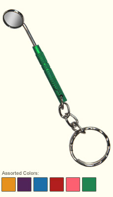 Dental Keychains: Mouth Mirror (Assorted Colors)