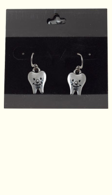 Dental Jewelry: Smiling Teeth Earrings