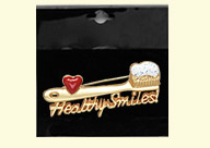 Dental Jewelry: Healthy Smiles Toothbrush Pin