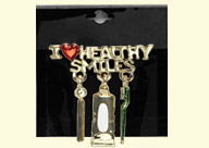 Dental Jewelry: I Heart Healthy Smiles Pin