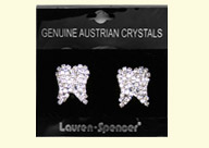 Dental Jewelry: Large Crystal Tooth Earrings