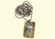 Dental Jewelry: Gold Tooth Necklace